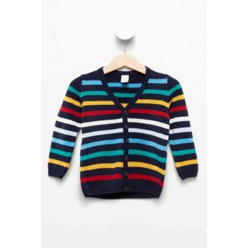 Navy Blue Baby Boy Sweater Cardigan J4321A2.18AU.NV31