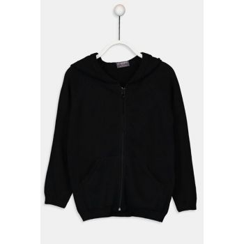 Girls' New Black Cvl Cardigan 9W1209Z4