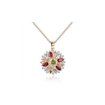 Trendy Colorful Flower Zircon Necklace myfvr3865