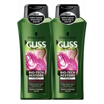 Gliss Bio-Tech Strengthening Shampoo 360 ml x 2 Pcs SET.HNKL.661