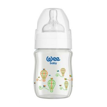 Wee Baby Classic Plus Wide Mouth Heat Resistant Glass Feeding Bottle 120 ml 8681830601340