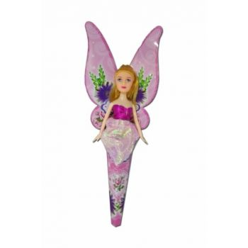 Winged Cone Haired Doll, 24cm, Pink, H92