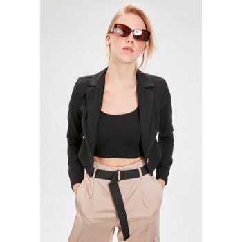 Black Crop Jacket TWOAW20CE0061