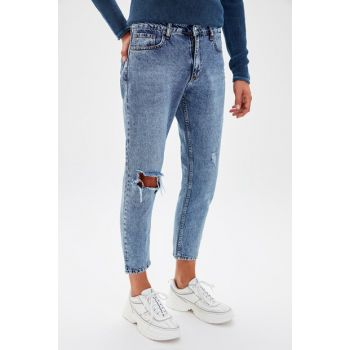 Blue Mens Relaxed Fit Snow Wash Jeans TMNSS19KE0011