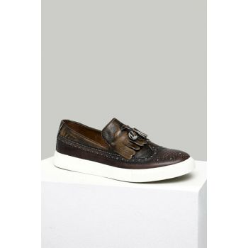 Genuine Leather Taba Men's Shoes 18SFD317818
