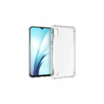 Rich Shop Samsung Galaxy A10 Ultra Thin Transparent Airbag Anti Shock Silicone Case - Transparent A10 TRANSPARENT