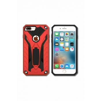 Iphone 7 Plus Armored Case with Stand SY-155-İ7PLUS-RED