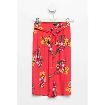 Red Girls Floral Culotte Trousers K5041A6.19SM.RD169