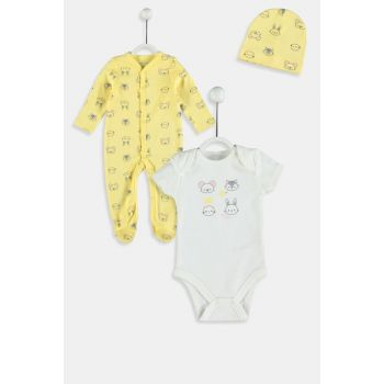 Baby Girl YELLOW PRINTED LUG SUIT 9W4069Z1