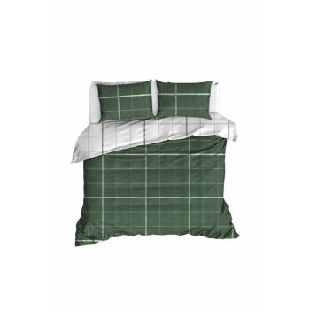 100% Natural Cotton Double Duvet Cover Set Maya Green Ep-020256