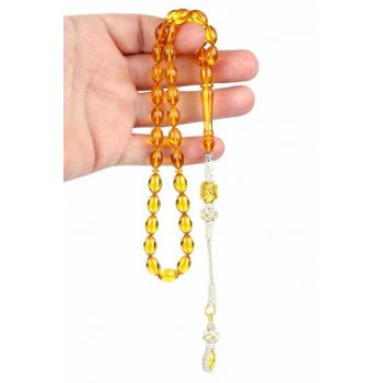 Lemon Squeezing Amber Rosary TB5270