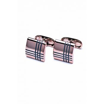 Men's Copper Color Square Cufflink KD774 KRVT8690002221485