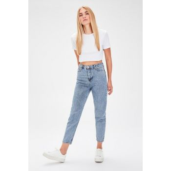 Blue High Waist Mom Jeans TWOAW20JE0056