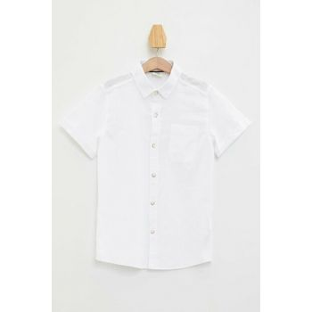 White Boy Short Sleeve Shirt M3925A6.19HS.WT34