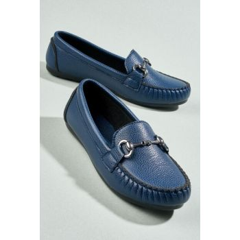 Navy Blue Women's Loafer Shoes H0542022209