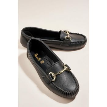 Black Women's Loafer Shoes H0516120009