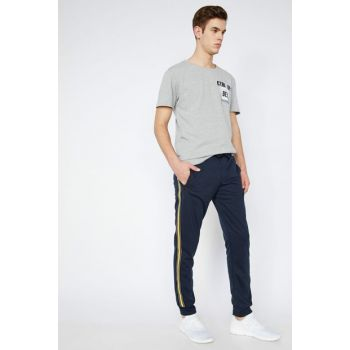 Men's Navy Blue Sweatpants 9YAM41999MK