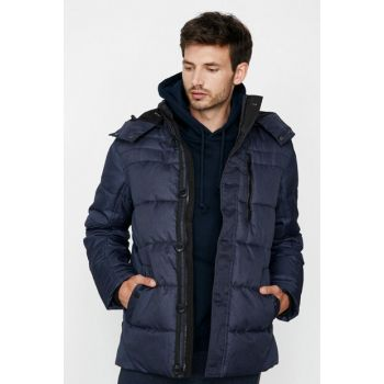 Men's Navy Blue Coat 9KAM24453OW