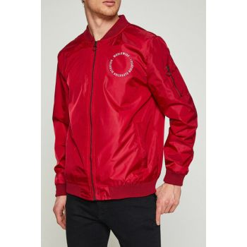 Men's Red Coat 8YAM21157HW