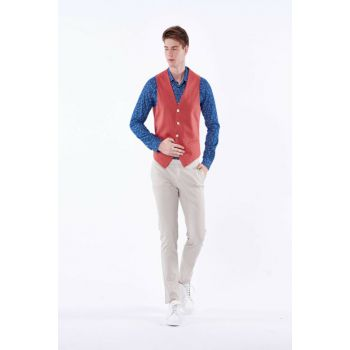 Men's Regular Waistcoat - Regular Fit DU1182212002