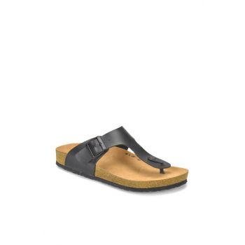 Black Men's Slippers MEROL