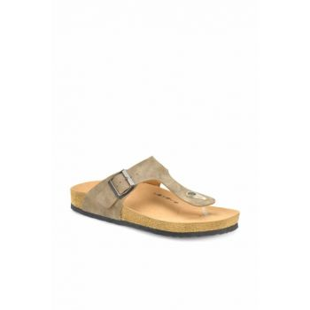 Sand color men's slippers MEROL
