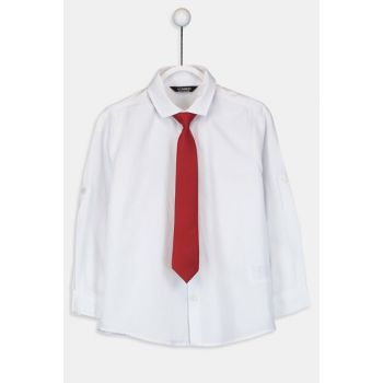 Boys' Bright White Jyx Shirt And Tie 9W5616Z4