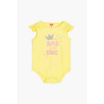 Yellow Baby Boy Printed Zippers with Studs 9YNG11235ZK