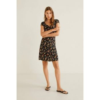 Women's Red Floral Dress 51030736