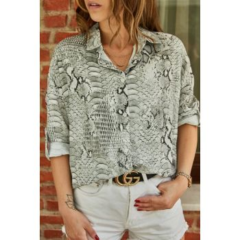 Women's Snake Printed Shirt 9YXK2-41616-52