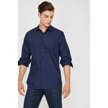 Men's Navy Blue Shirt 9KAM69819VW