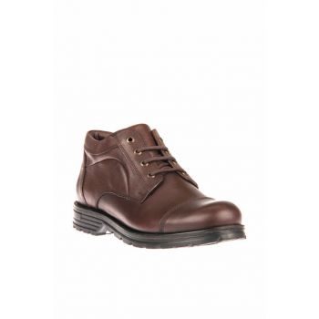 Genuine Leather Coffee Men Boots 8347 139M