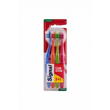 4-toothbrush for effective cleaning - Clean Action 8690637883460