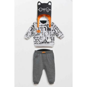 Anthracite Baby Boy Bottom Top Hat 3 Piece Set WG5343