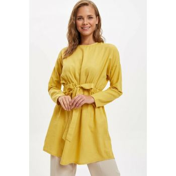Women's Yellow Self-Belt Tunic M0344AZ.19AU.YL18