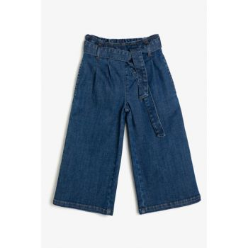 Blue Girl Belt Detailed Jean Pants 0KKG47827AD