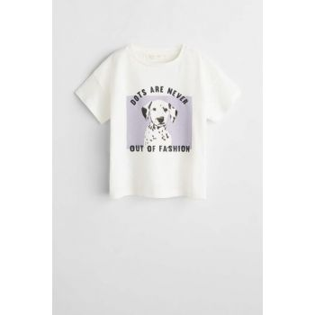 White Girl T-Shirt with Pattern 53010820