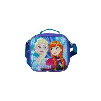 Frozen Elsa and Anna Embossed Silvery School Lunch Box 96433 8693132964337