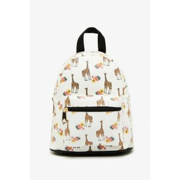 Pink Girl Children Printed Backpack 0KBG30016AA