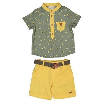Baby Boy T-Shirt Shorts Set of 2 9-24 Months Khaki 19257 M19257HAKI
