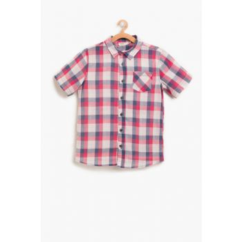 Red Boy's Checkered Shirt 8YKB66662TW