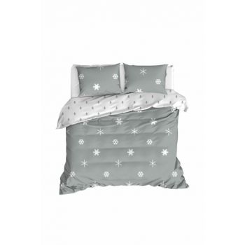 100% Natural Cotton Double Duvet Cover Set Janes Gray Ep-020251