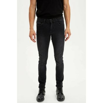 Men's Black Carlo Skinny Fit Jean Pants L6676AZ.19AU.NM40
