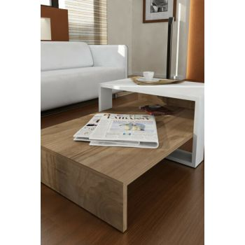 Chain Coffee Table White Walnut 8681506221513