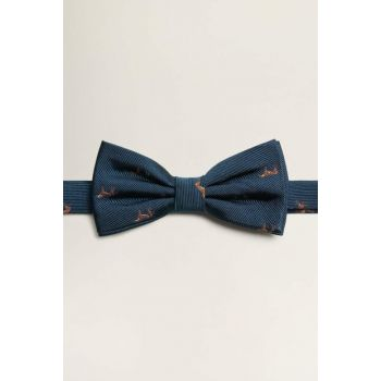Men's Navy Blue Jacquard Silk Bow Tie 53060850