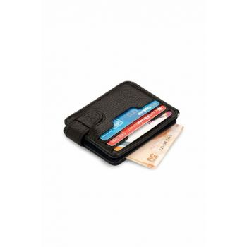 Men's Double Side Leather Card Wallet Double Color Navy Blue-Black 5175Cıft 5175CIFT
