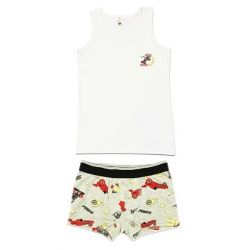 Boys' White Underwear Suit 31421