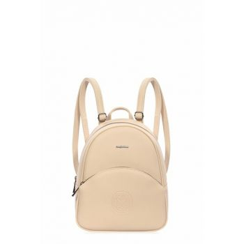 Beige Women's Backpack 7199