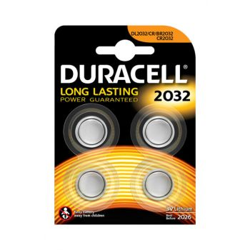 Custom 2032 Lithium Button Cell Battery, Pack of 4 5000394119376