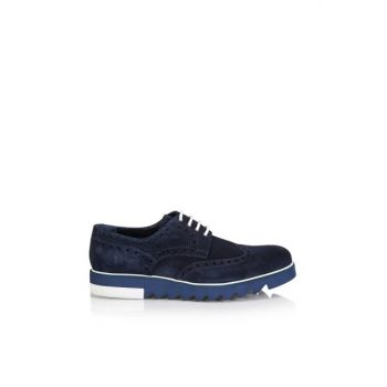 Genuine Leather Navy Blue Men Shoes 02AYH105870A680